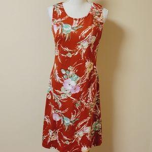 Vintage Lady Carol floral sheath dress size mediu